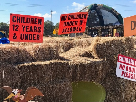 The large hay maze